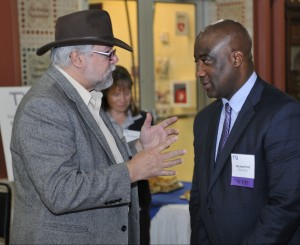 TRU Vice-President Bob Prud'homme shared ideas with RTA CEO Michael Ford at TRU's fall meeting