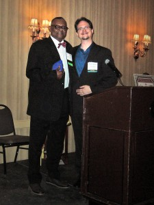 Cornelius Henry received the Transit Employee of the Year Award for his work at the Detroit People Mover.
