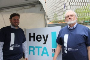 RTA Planner Ben Stupka and RTA Citizen Advisor Larry Krieg helped seek public input on transit plans and priorities.