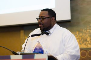 Transit Employee of the Year DeJuan Brown touched everyone with his emotional remarks.